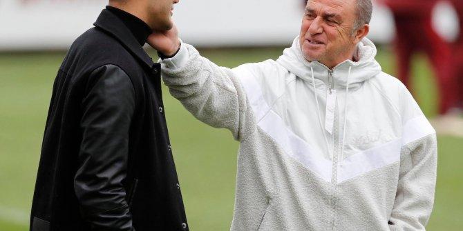 Ozan Kabak, Galatasaray antrenmanını ziyaret etti