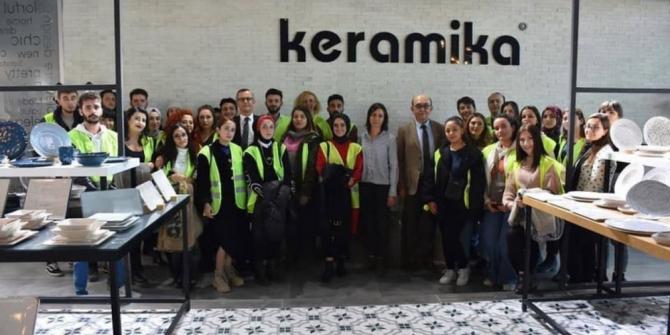 DPÜ Güzel Sanatlar Fakültesi'nden Seramik Fabrikası'na teknik gezi