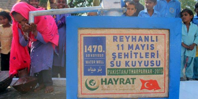 Reyhanlı 11 Mayıs Şehitler Derneği adına Pakistan'da su kuyusu açıldı