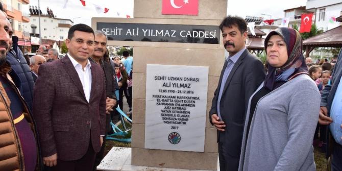 Şehit Ali Yılmaz Caddesi açıldı
