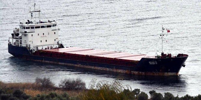 Şarköy'de karaya oturan kuru yük gemisinin kaptanı yardım istemedi