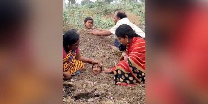 Ülke şokta: Engelli çocukları toprağa gömüp iyileşmelerini beklediler