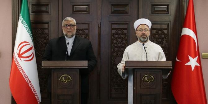 Erbaş ve Ebuzer İbrahimi Türkman, İslam dünyasının sorunları için bir araya geldi