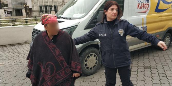 Komşu evini yaktığı iddiasıyla gözaltına alınan kadın adliyede