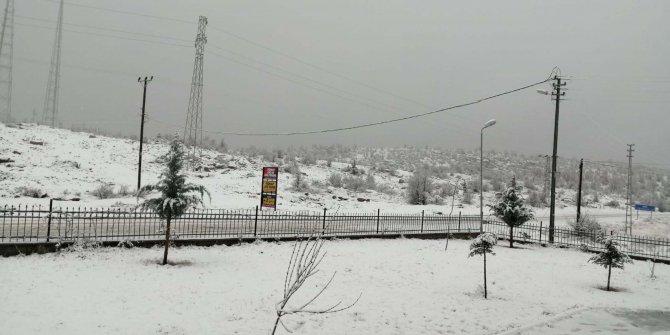 Sincik'te kar yağışı