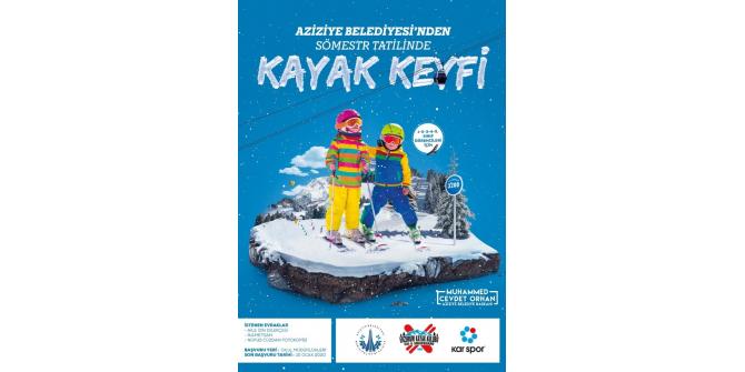 Aziziyeli çocuklara kayak imkanı