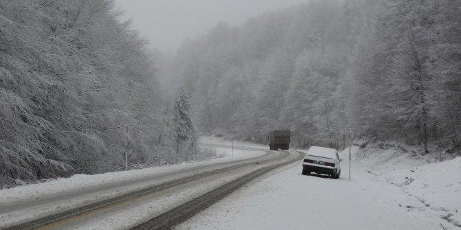 Domaniç'te kar yağışı, hayatı olumsuz etkiledi