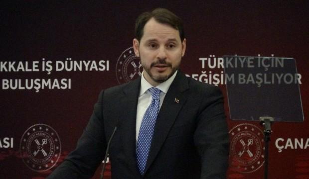 Hazine ve Maliye Bakanı Berat Albayrak'tan önemli açıklama