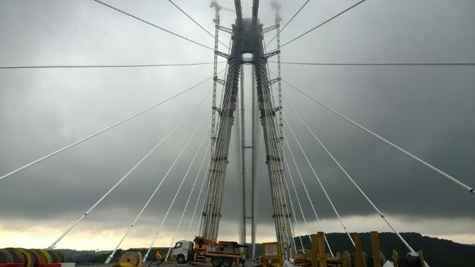 3. Köprü'de çalışmalar tam gaz devam ediyor