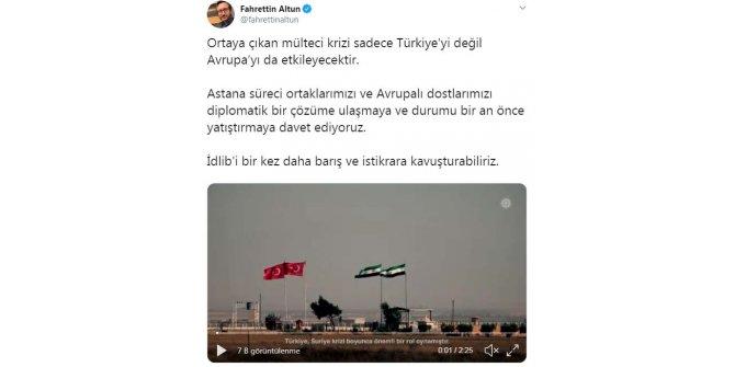 Fahrettin Altun: İdlib'i bir kez daha barış ve istikrara kavuşturabiliriz