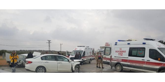 Gaziantep-Şanlıurfa kara yolunda trafik kazası: 7 yaralı
