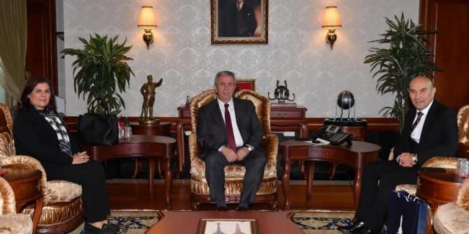 Çerçioğlu ve Soyer'den Mansur Yavaş'a destek ziyareti