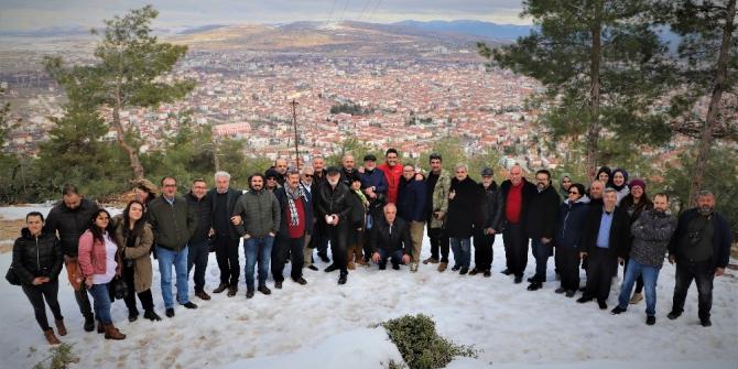 Başkan Ömer İşlek, gazetecilerle birayaya geldi