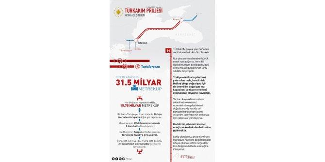 Cumhurbaşkanı Erdoğan'dan 'TürkAkım' projesine ilişkin paylaşım