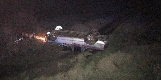 Manisa'da, takla atan kamyonetin sürücüsü öldü