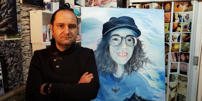 Ölümüyle Türkiye'yi yasa boğan Sibel Ünli'yi ölümsüzleştirmek için portresini yaptı