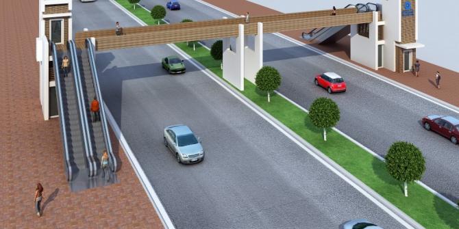 Büyükşehir'den Kızılırmak Caddesi ve Gazi Bulvarı'na üst geçit