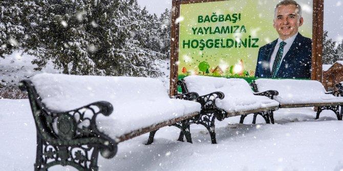 Bağbaşı Yaylası'nda kış manzaraları