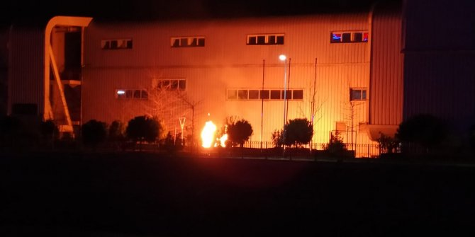 Atletizm stadında patlayan doğal gaz tankı, alev alev yandı