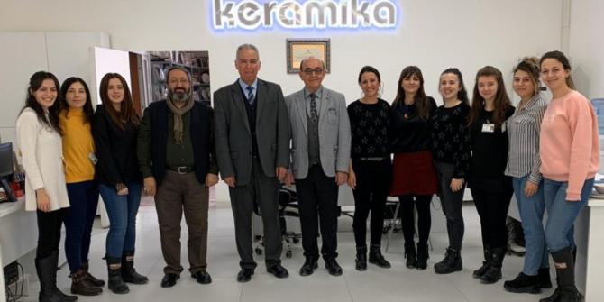 DPÜ Güzel Sanatlar Fakültesinden seramik fabrikasına ziyaret