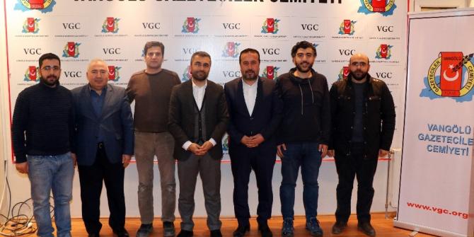 Başkan Say'dan Vangölü Gazeteciler Cemiyetine ziyaret