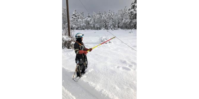 Toroslar EDAŞ, zorlu kış şartlarında çalışmalarını sürdürüyor