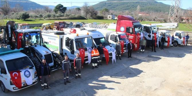 Ula Belediyesinin araç parkına takviye