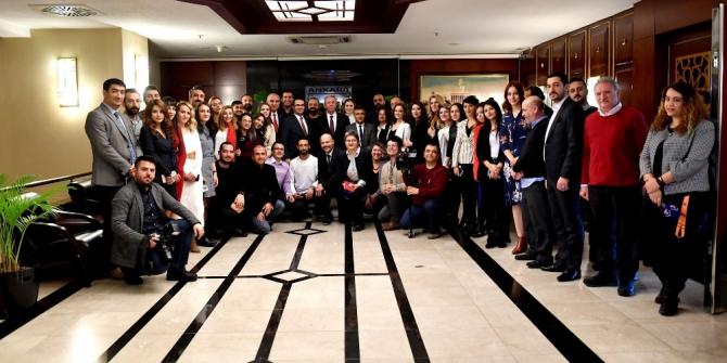 Basın Yayın Şube Müdürlüğü çalışanlarından Başkan Yavaş'a ziyaret