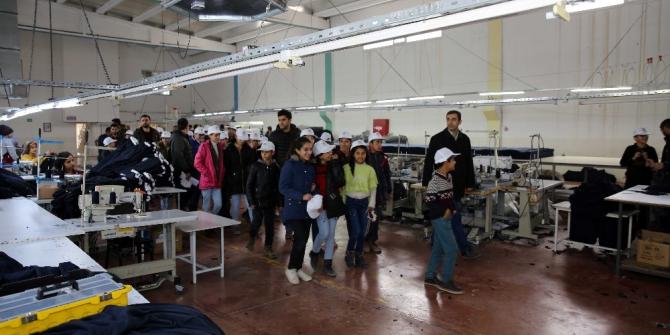 Kızıltepeli öğrenciler OSB'deki fabrikaları gezdi