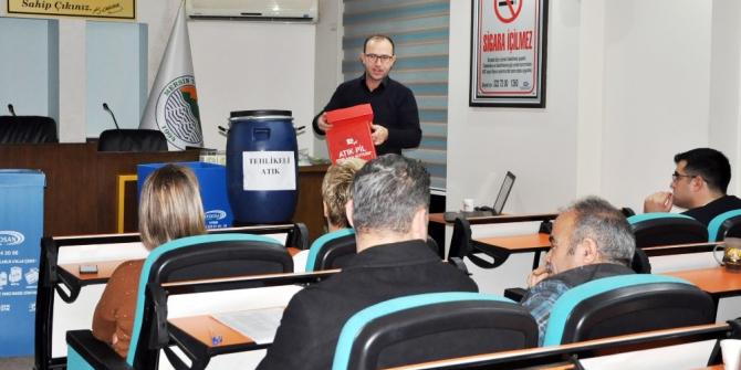 Toroslar Belediyesi personeline 'sıfır atık' eğitimi