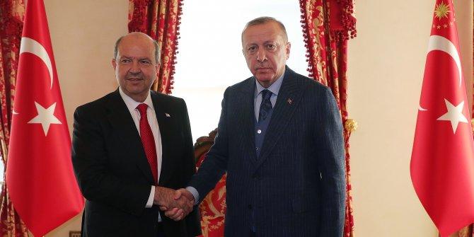 Cumhurbaşkanı Erdoğan KKTC Başbakanı Tatar'ı kabul ediyor