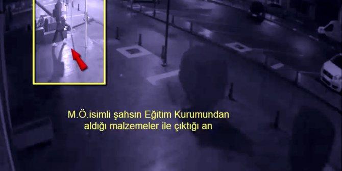 Tutuklanan şüphelinin 3 yerden hırsızlığı güvenlik kamerasında