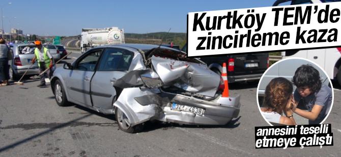 Kurtköy TEM'de Zincirleme Trafik Kazası: 8 Yaralı