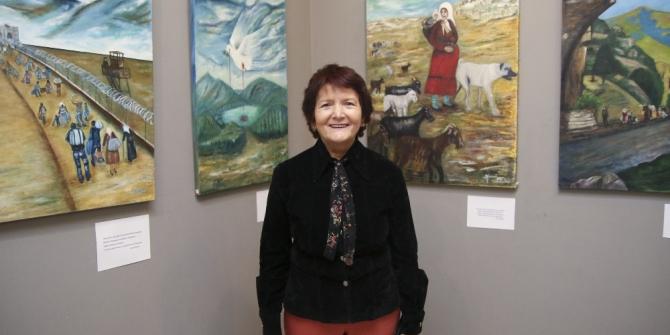 Emekli öğretmen Altınışık, 3'üncü kişisel resim sergisini MTSO'da açtı