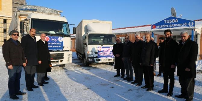 Tuşba Belediyesinden Elazığ'a yardım