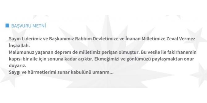 Depremden sonra CİMER'e destek mesajı yağdı