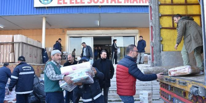 Menemen'den Elazığ'daki depremzedelere yardım