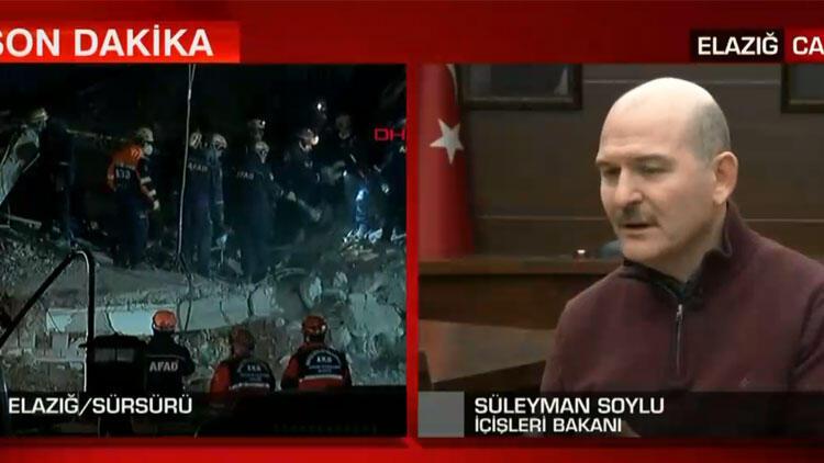 """Bakan Soylu: """"45 vatandaşımızı göçük altından çıkardık"""""""