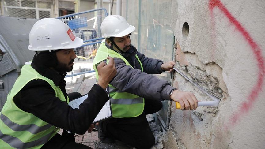 Deprem bölgesindeki hasar tespit çalışmaları başladı
