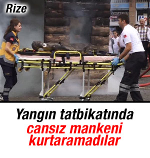 Rize'de Başarısız yangın tatbikatı