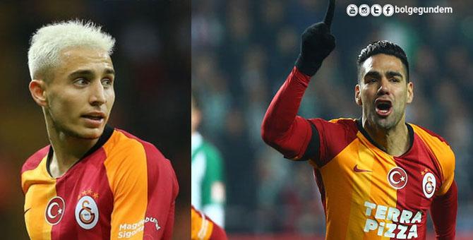 Galatasaray'da Falcao ve Emre Mor gerginliği
