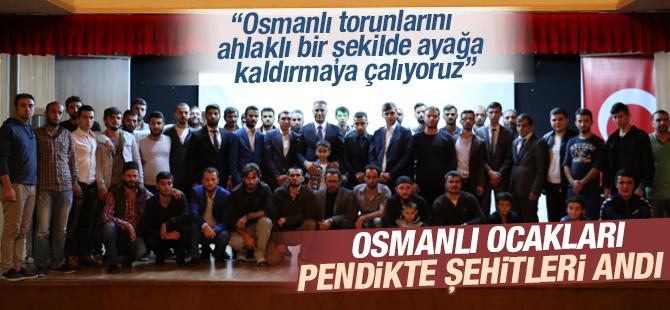 Osmanlı Ocakları Pendik'te Şehitleri Andı