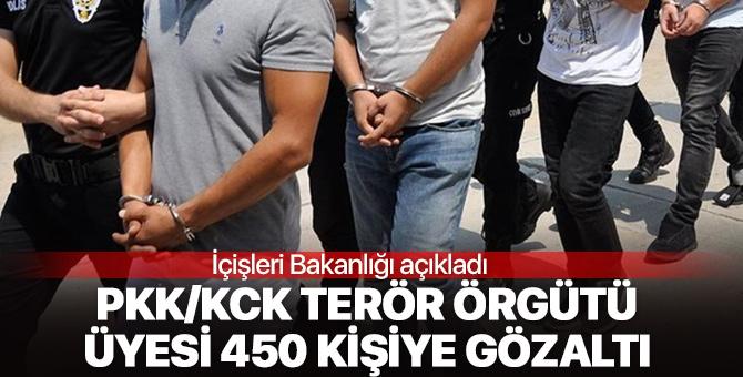 PKK/KCK terör örgütü üyesi 450 kişiye gözaltı!