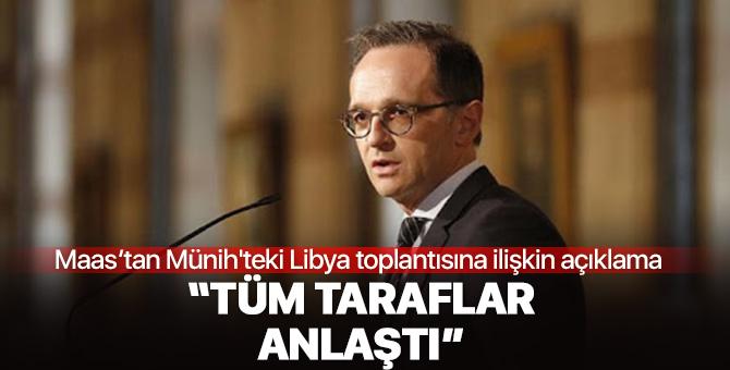 Almanya Dışişleri Bakan'ından Münih'teki Libya toplantısına ilişkin açıklama
