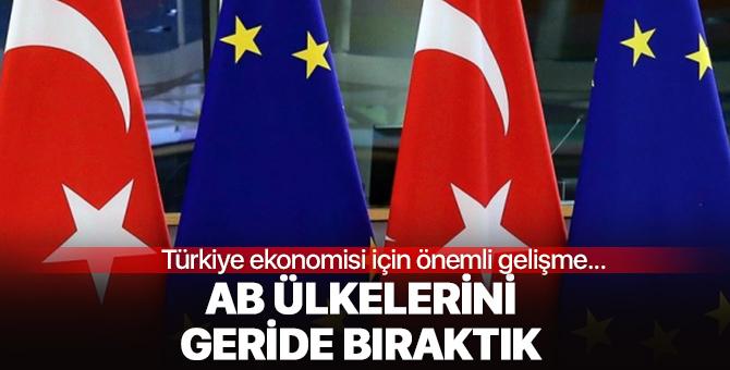 Türkiye ekonomisi için önemli gelişme! AB ülkelerini geride bıraktık