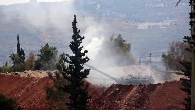 TSK, Esed rejimi topçusuna karşılık veriyor