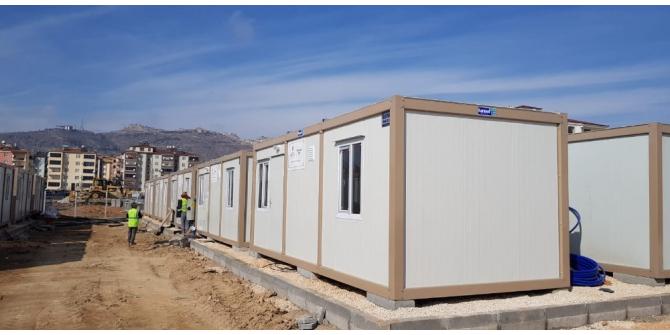 TDV'den depremzede aileler için konteyner ev