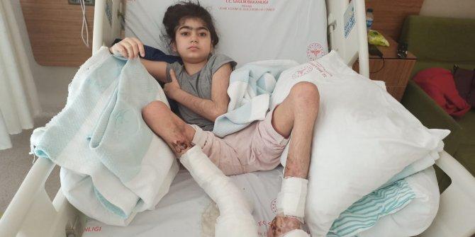 Ayağı kangren olan Ekin'in tedavisine başlandı