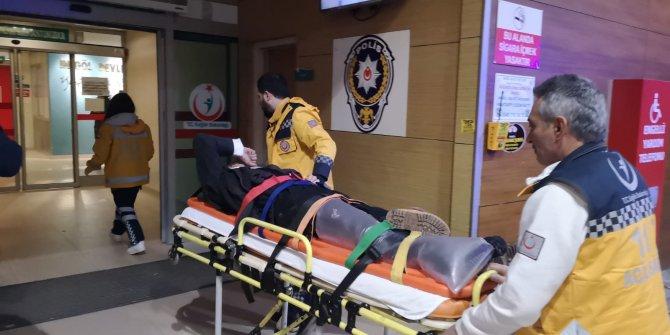 Otomobilin çarptığı bisikletli, ağır yaralandı