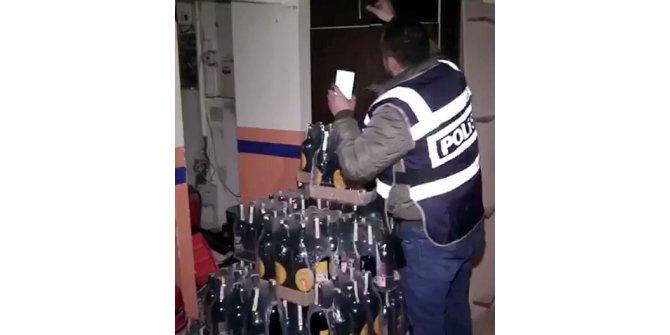 178 polisle sahte içki operasyonu: 9 gözaltı